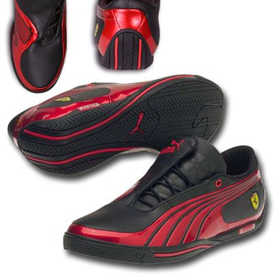 black and red puma ferrari shoes
