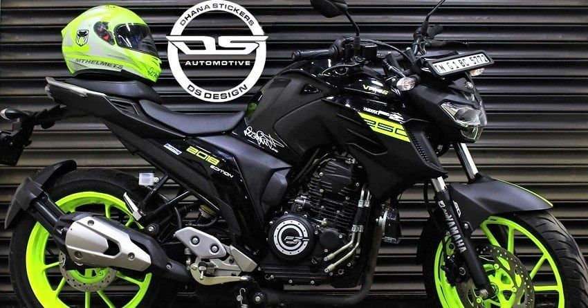 Yamaha Fz25 Vr46 Edition By Ds Design Chennai Yamaha Fz Bike
