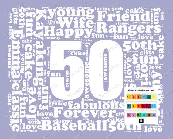 Personalized 50th birthday gift word art 50th birthday fifty personalized 50th birthday gift word art 50th birthday fifty birthday 8 x 10 print negle Gallery