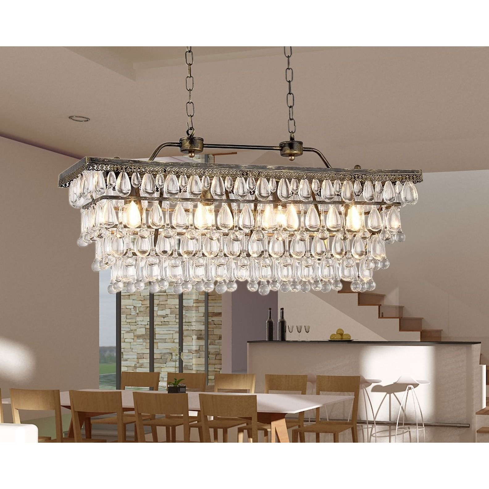 Warmth and style are the hallmarks of this chandelier that will ...