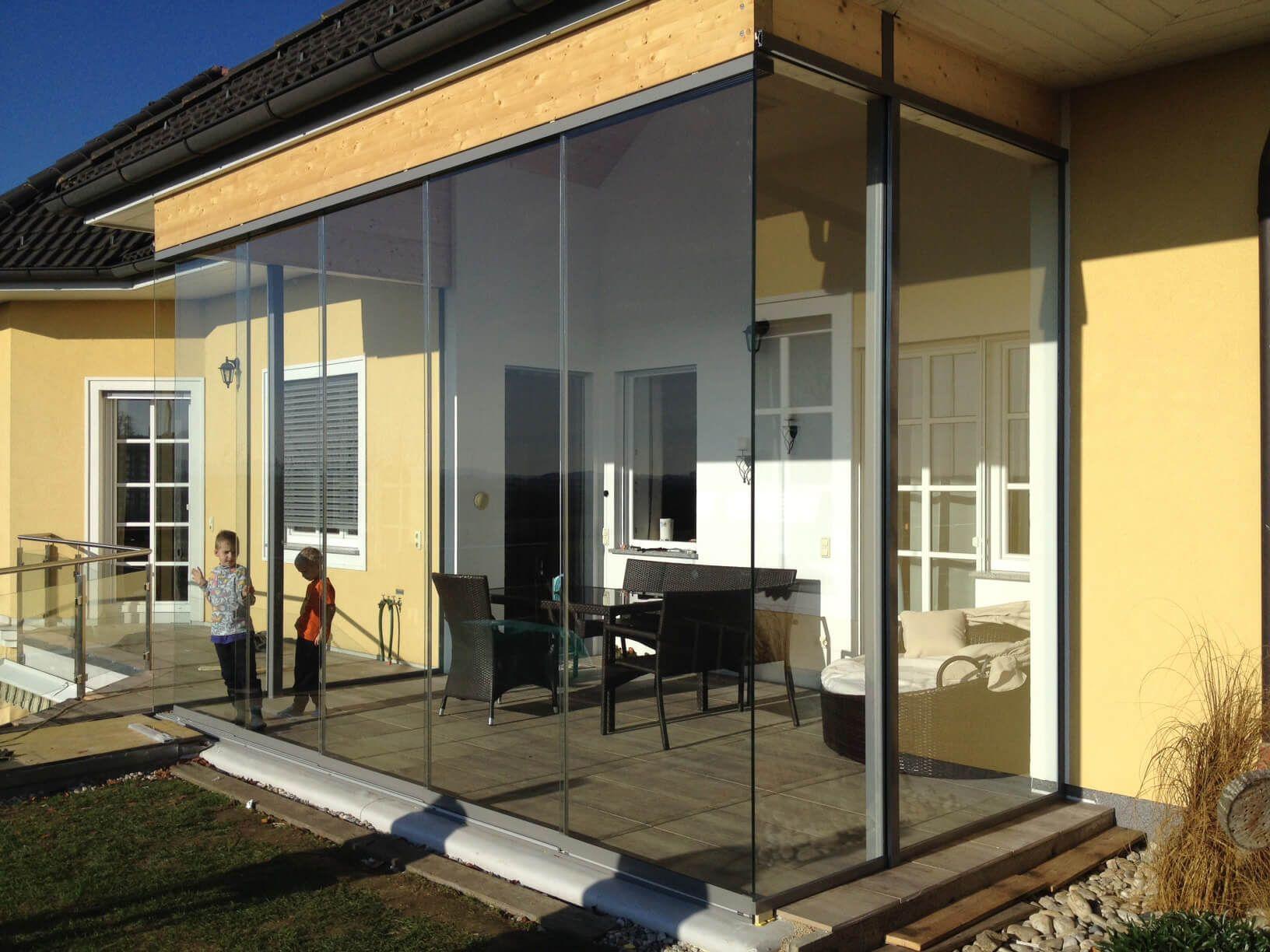 Hohe schiebet ren aus glas sunflex sf 20 f r optimalen wetterschutz garten - Wintergarten ffb ...