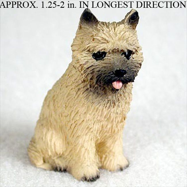 Cairn Terrier Mini Hand Painted Figurine Red Miniature Dogs