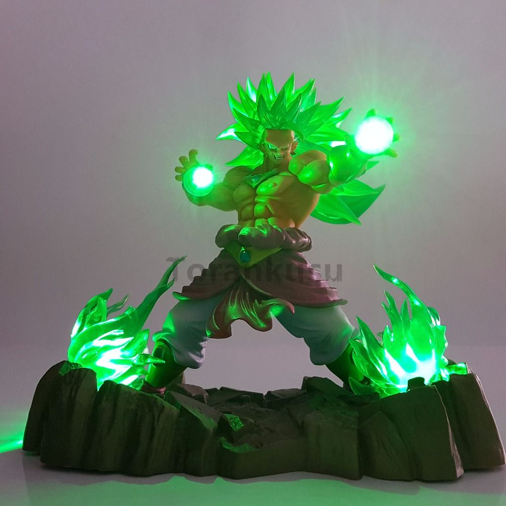 Reliable Dragon Ball Z Broly Led Light Super Saiyan Action Figures Led Head Lighting Pvc Anime Dragon Ball Broly Diy Led Light Dbz Led Night Lights Lights & Lighting