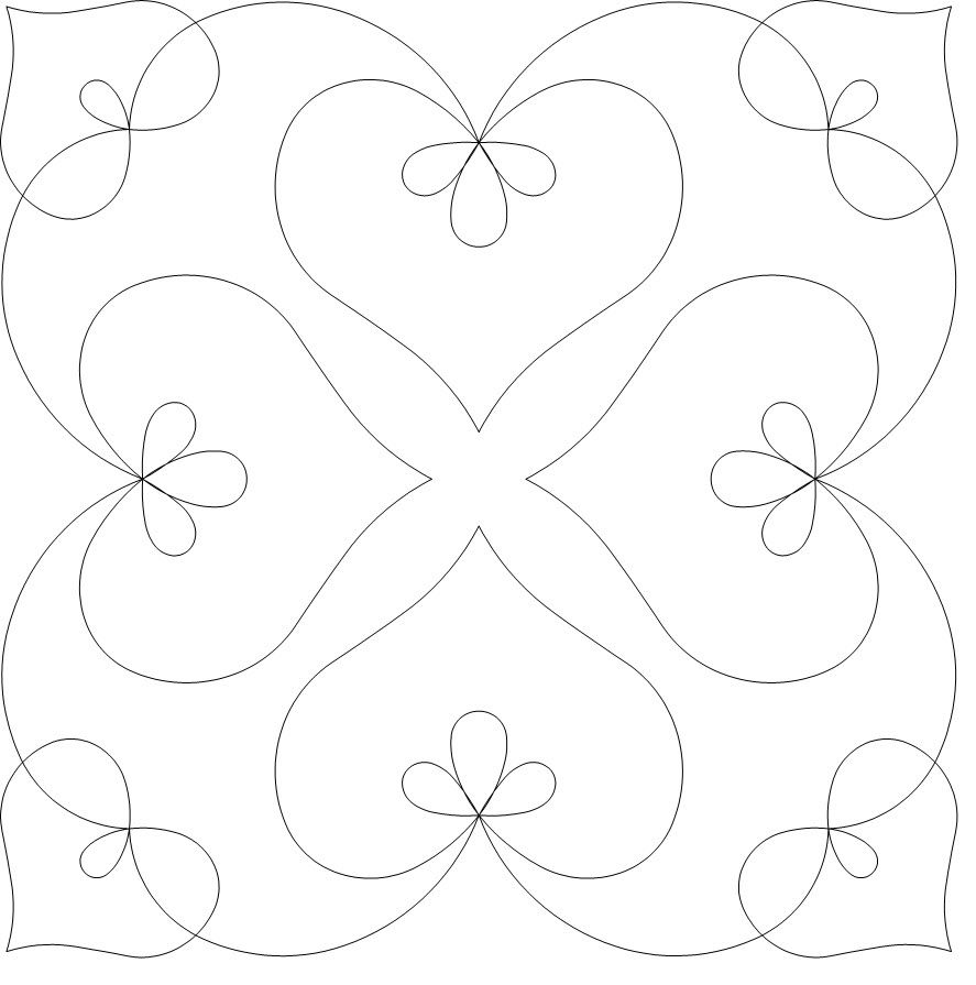 Continuous Line Quilting Patterns Free Downloads Interesting Decoration