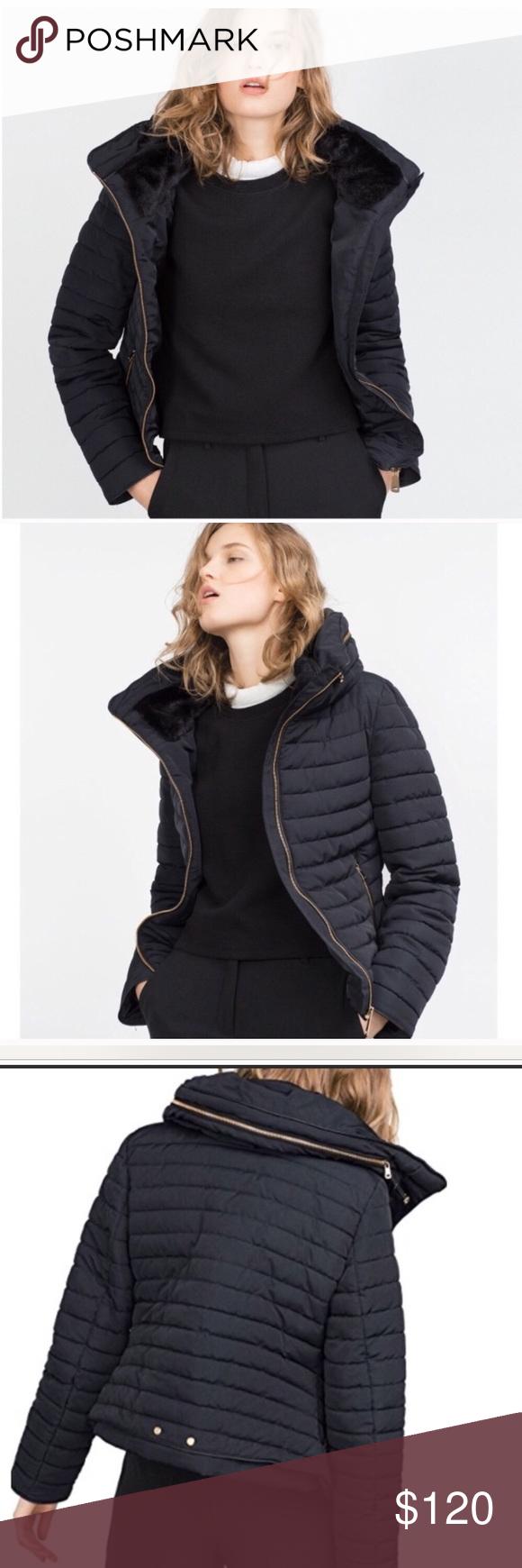 Zara Basic Outerwear Department Puffer Jacket Sz L Zara Basic Fashion Clothes Design [ 1740 x 580 Pixel ]