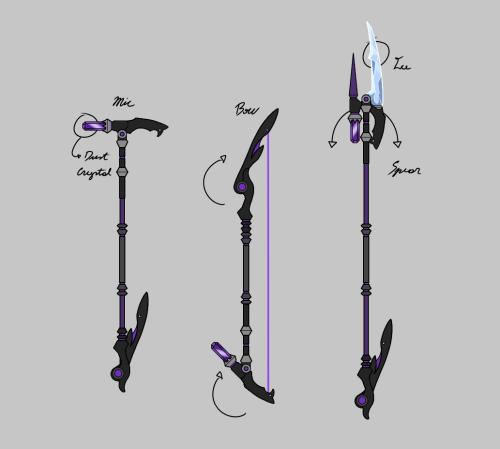Sketch for a future Weapon Design for Viola. Mic/Magic