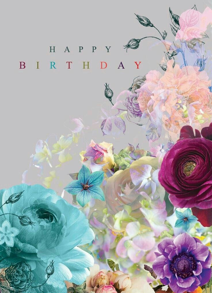 Pin by Mariann on háttérk Happy birthday flower, Happy