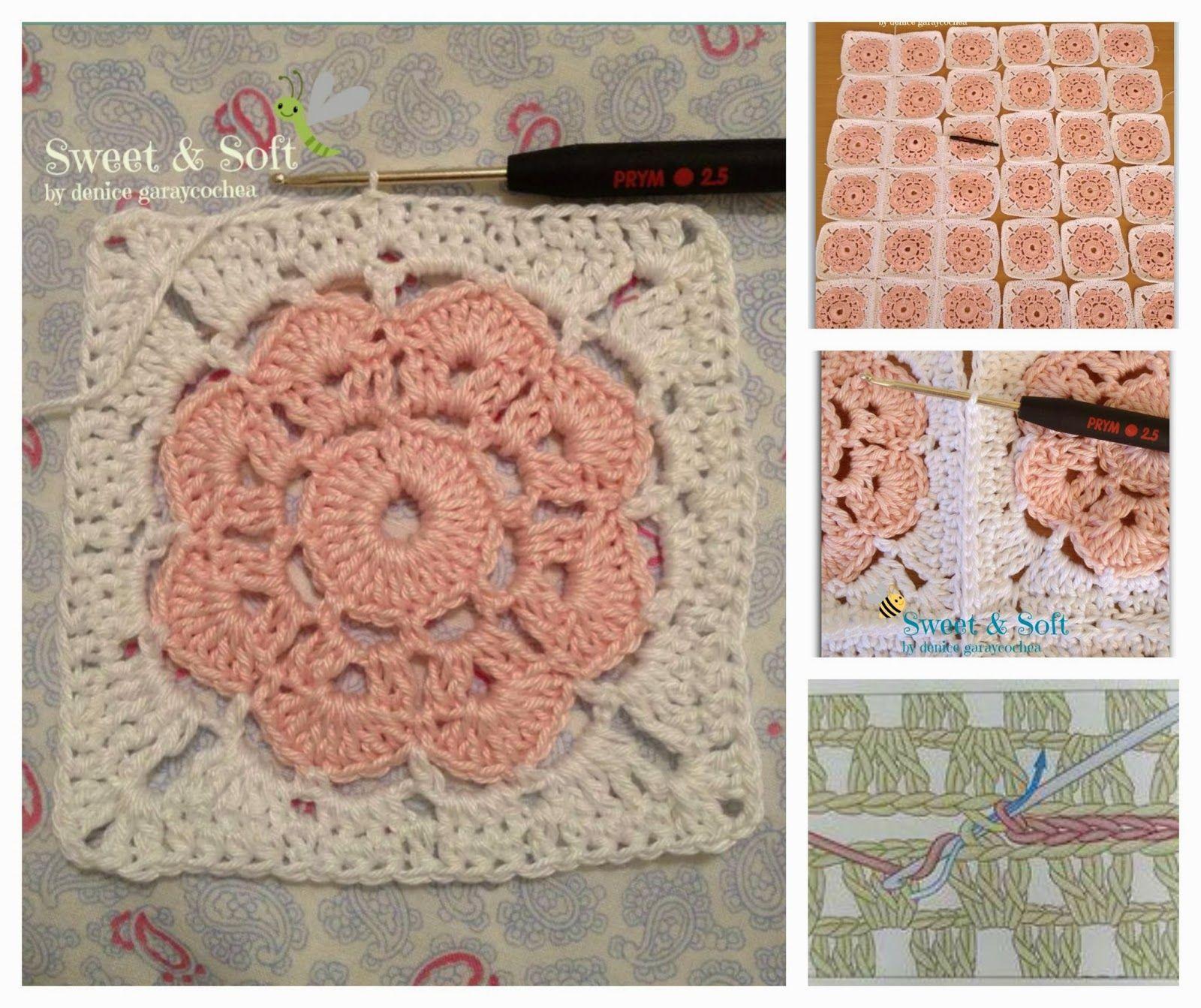 Cmo hacer un granny square con flor maybelle a crochet maybelle square para hacer la flor necesitan lana o hilo de algodn del grosor para trabajarla quilting patternscrochet motifcrochet bankloansurffo Images