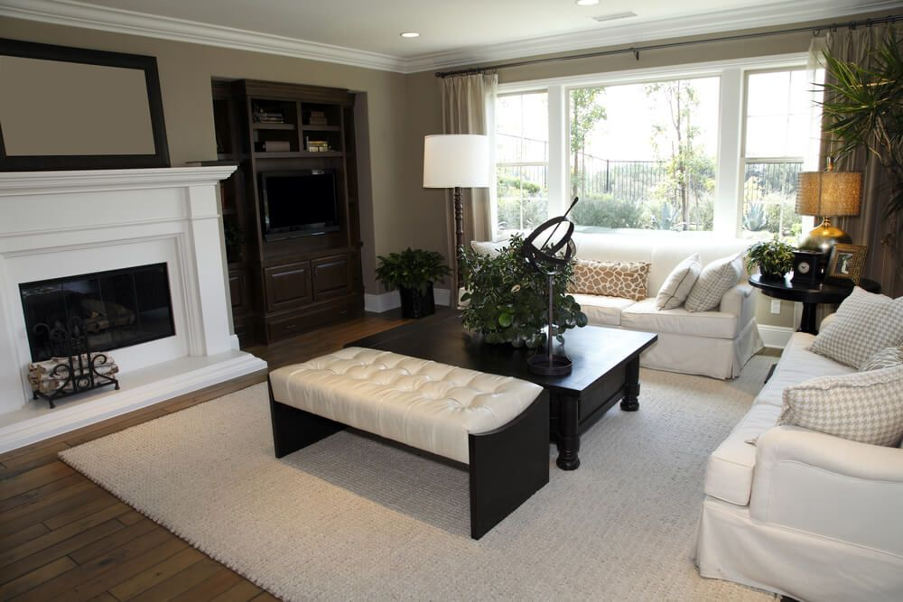 50 Beautiful Living Rooms With Ottoman Coffee Tables Tan Living Room Beautiful Living Rooms Modern Living Room Blue