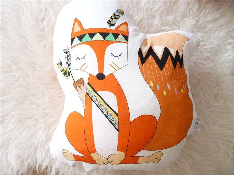Kissen: Fuchs Indian | Fuchs, Kissen und Dawanda