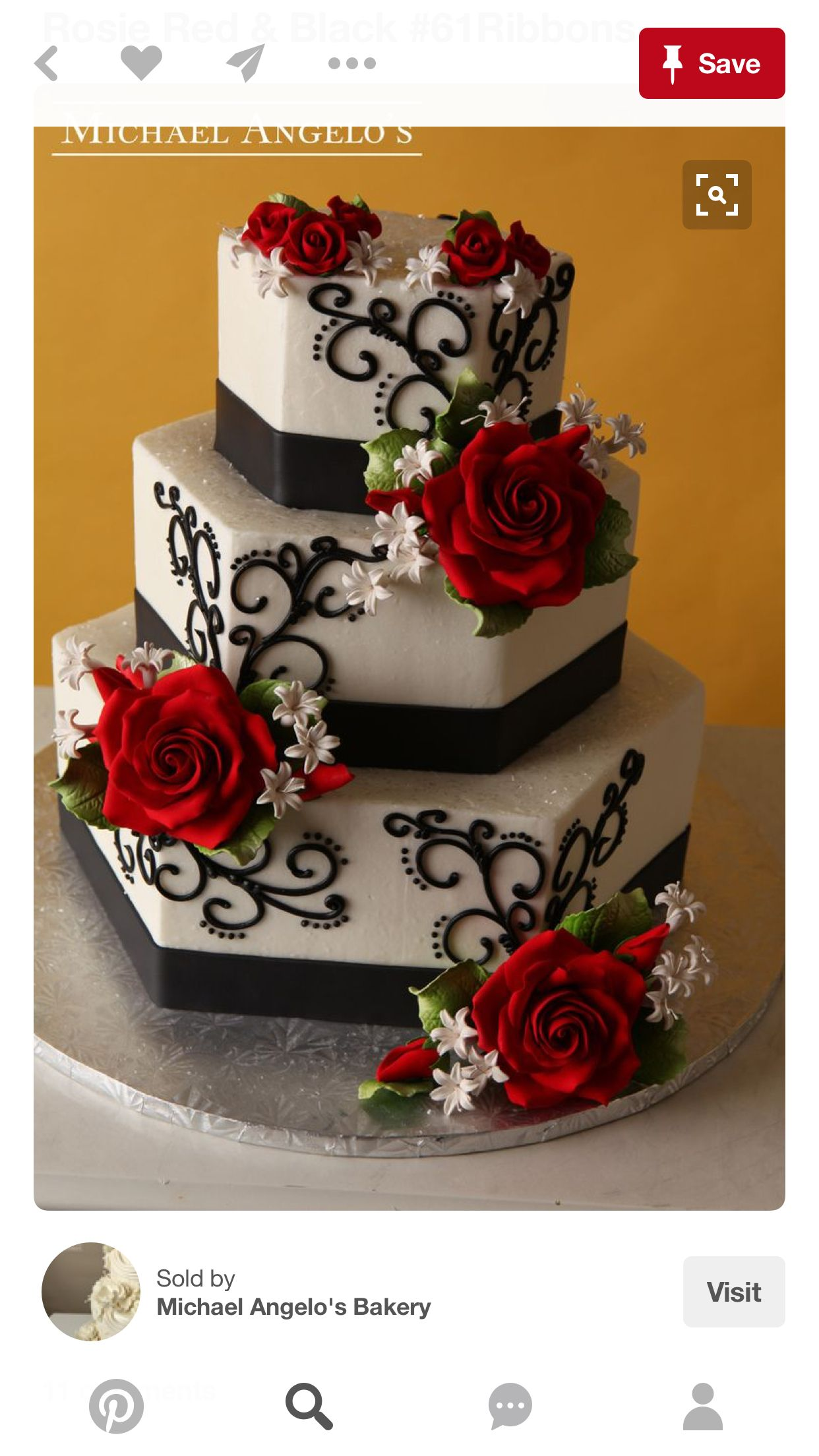 Wedding decorations red and black october 2018 bolo Padilha ll  Casamento in   Pinterest  Cake Wedding