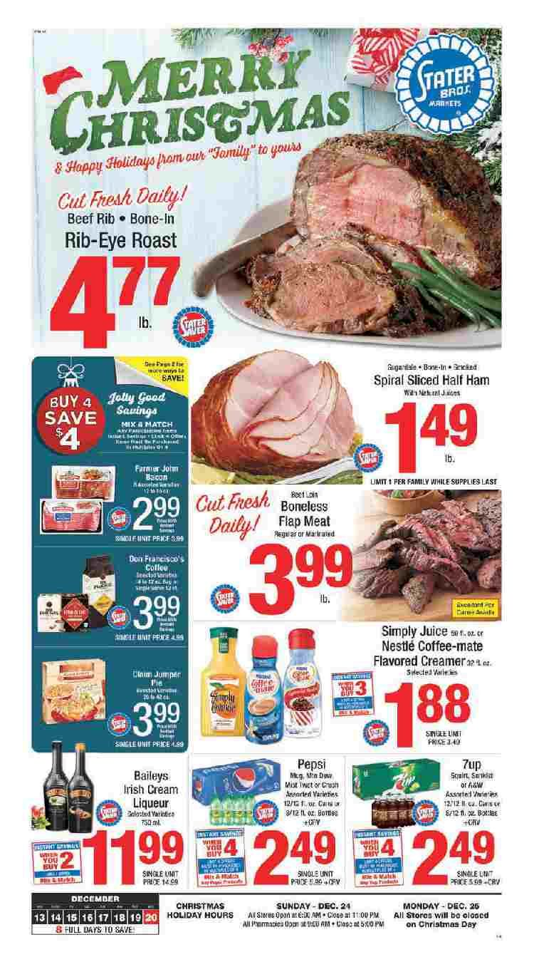 Stater Bros Weekly Ad December 13 20 2017 Grocery Stater Bros