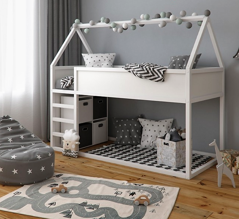 Cabin Bed With Stairs And Under Bed Storage Teepee Style Kids Bunk Bed Rare Epoch In 2020 Cabin Beds For Kids Childrens Cabin Beds Ikea Toddler Bed