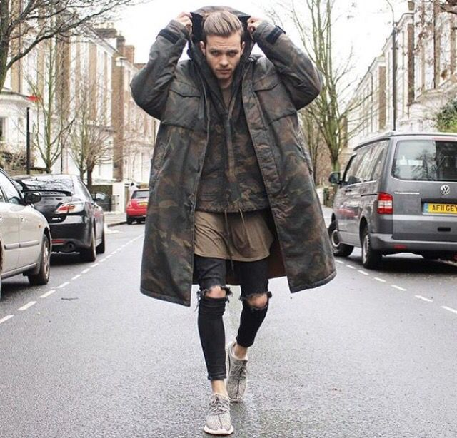 Long jacket / green / black / tripes / hipster / men / style / clothes / zara / H&M