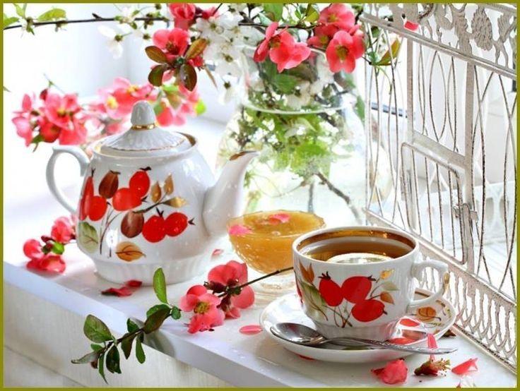 صباح الهدوء و الاجواء الجميله و الامنيات الصغيره المتطايره نحو السماء صباحكم ج ميل كجمال أرواحكم Tea Tea Art Tea Trolley