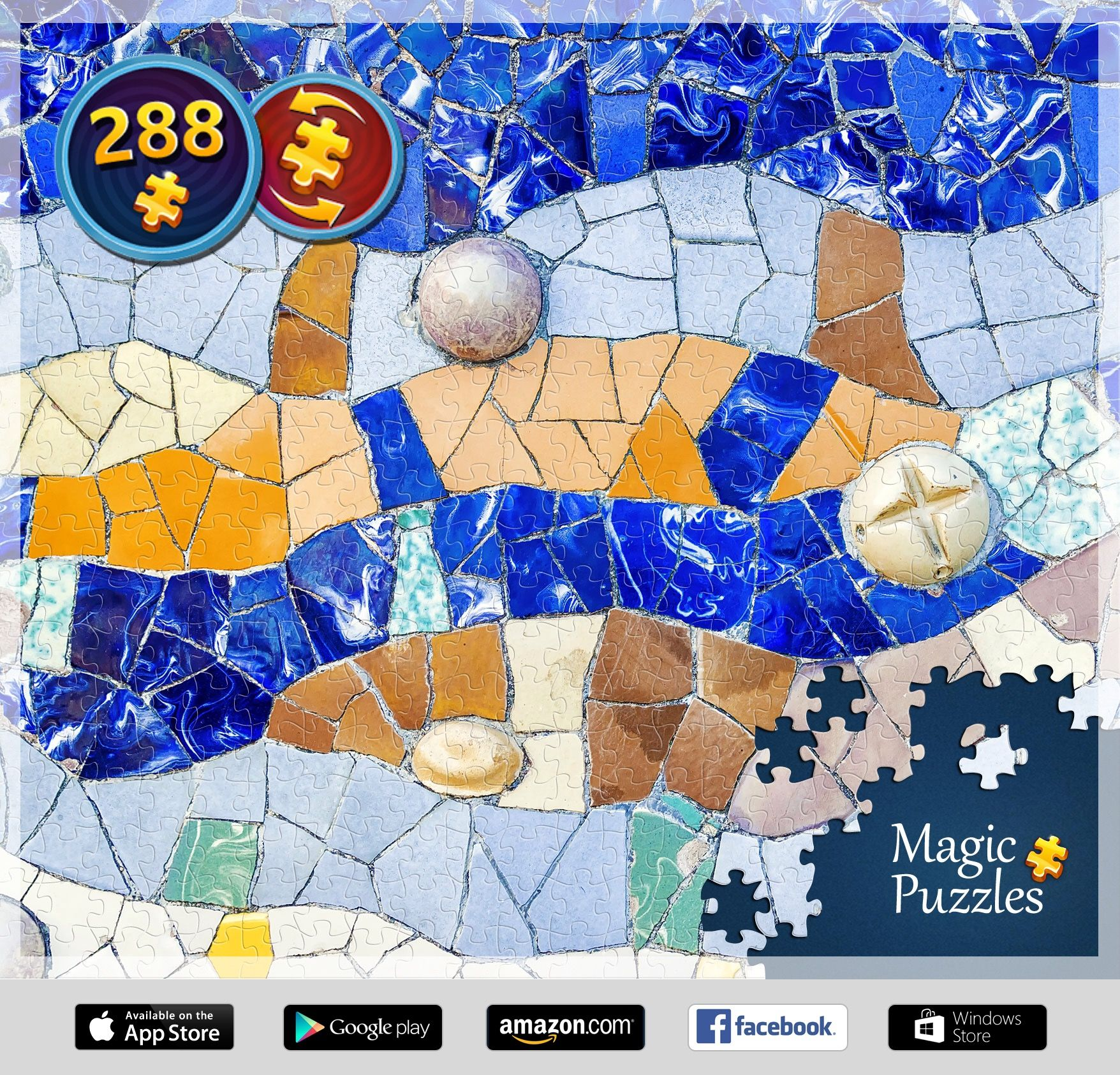 I've just solved this puzzle in the Magic Jigsaw Puzzles app