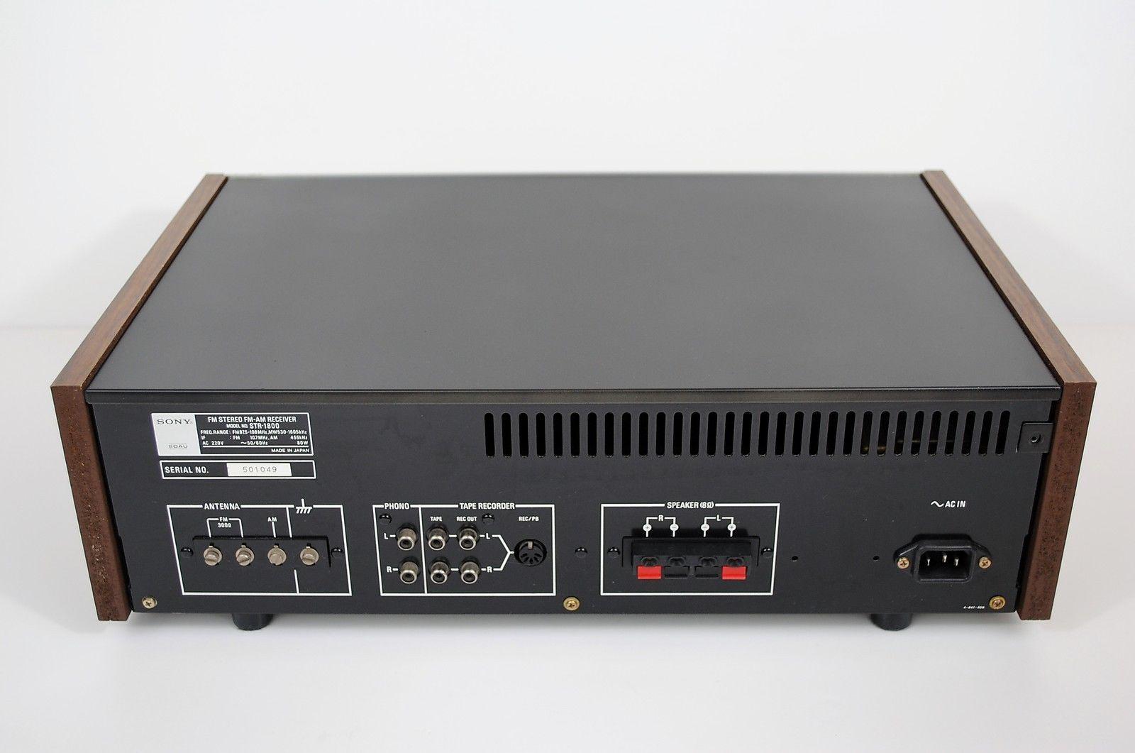 Vintage Sony STR-1800 AM/FM Stereo Receiver 1970's in Sound