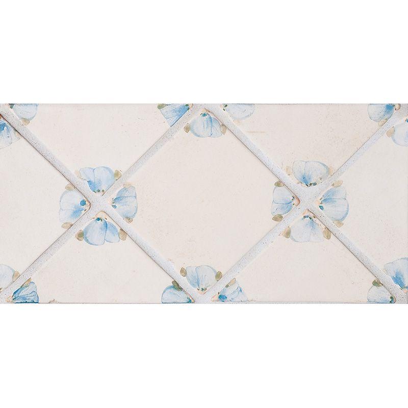 Petal Blanc Triangle French Blue Glazed Ceramic Tiles 4x4 Glazed Ceramic Tile Glazed Ceramic Decorative Tile