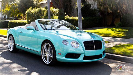 2013 Bentley Continental Gt V8 Convertible Light Blue