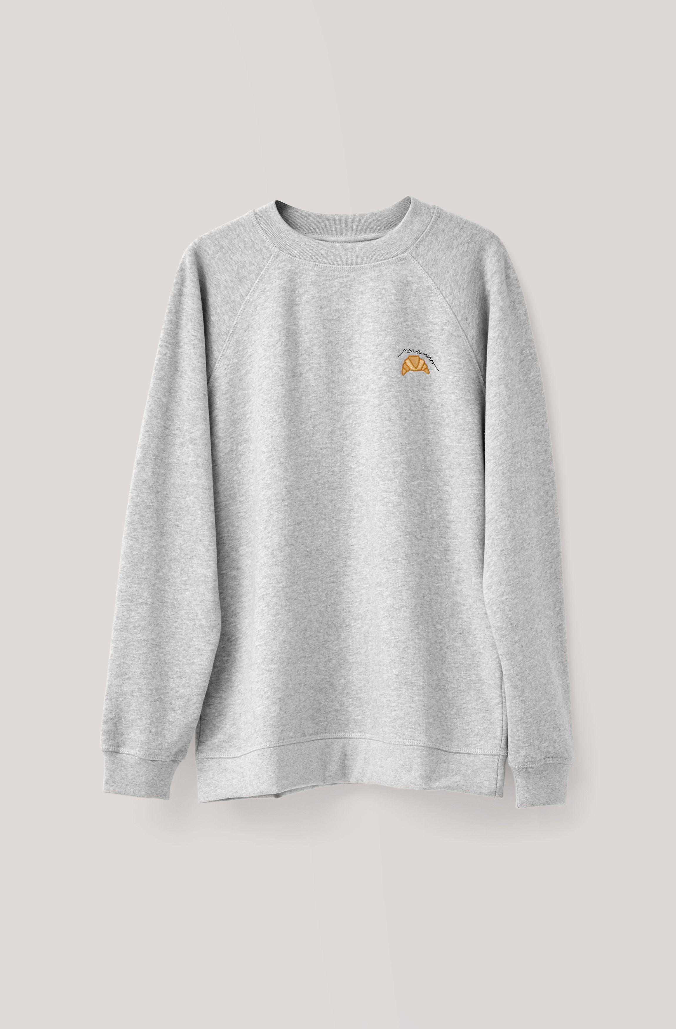 Leroy Isoli Sweatshirt Croissant Paloma Melange X Small Roupas Looks [ 3500 x 2300 Pixel ]