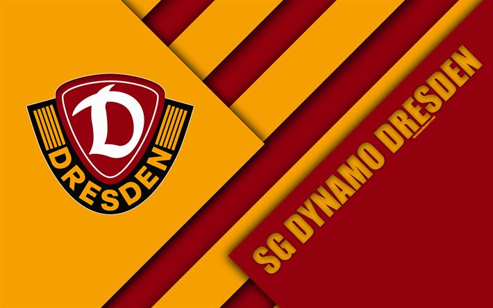 Download wallpapers SG Dynamo Dresden, logo, 4k, German