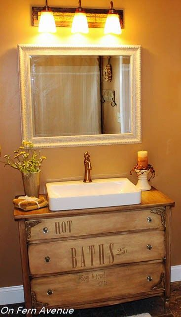 A Guide To Turning A Dresser Into A Vanity Dresser Vanity Bathroom Gorgeous Bathroom Bathroom Vanity