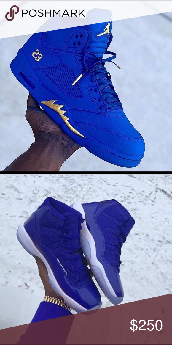 new style a439a 3c0e8 Blue custom 5s and 11s All new self custom 5s and 11s Jordan ...
