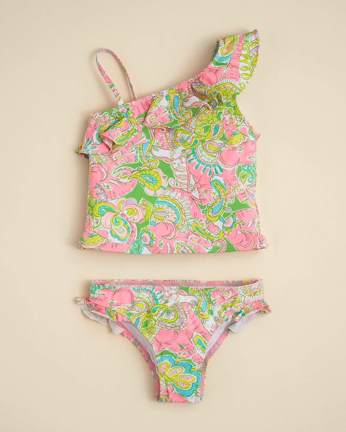 91005555f8971 Lilly Pulitzer Girls Clemson Tankini - Sizes 2-6 | Bloomingdales ...