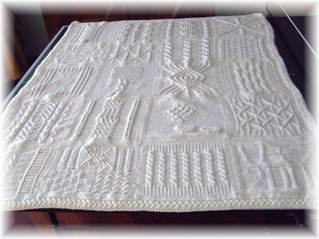 Great American Aran Afghan - what a project! | Knitting Things ...
