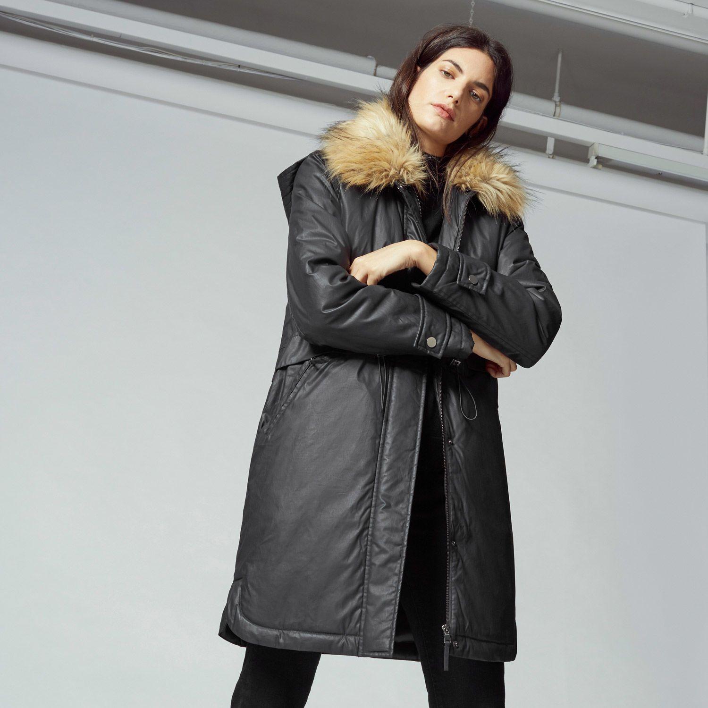 Warehouse, Hooded Waxed Parka Navy 1 | Coats (AW16) | Pinterest ...