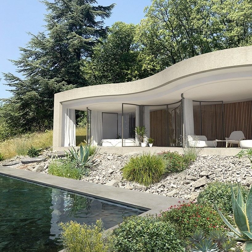 Maison W The Pleated House By Christophe Benichou And Virgile Ponsoye In 2020 Green Roof The Neighbourhood Beach House