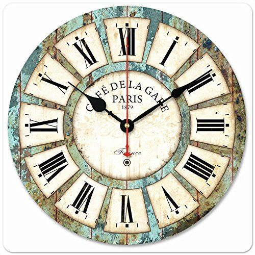 Wood Wall Clock Silent Quiet Non Ticking Wooden Large Clo... Https: