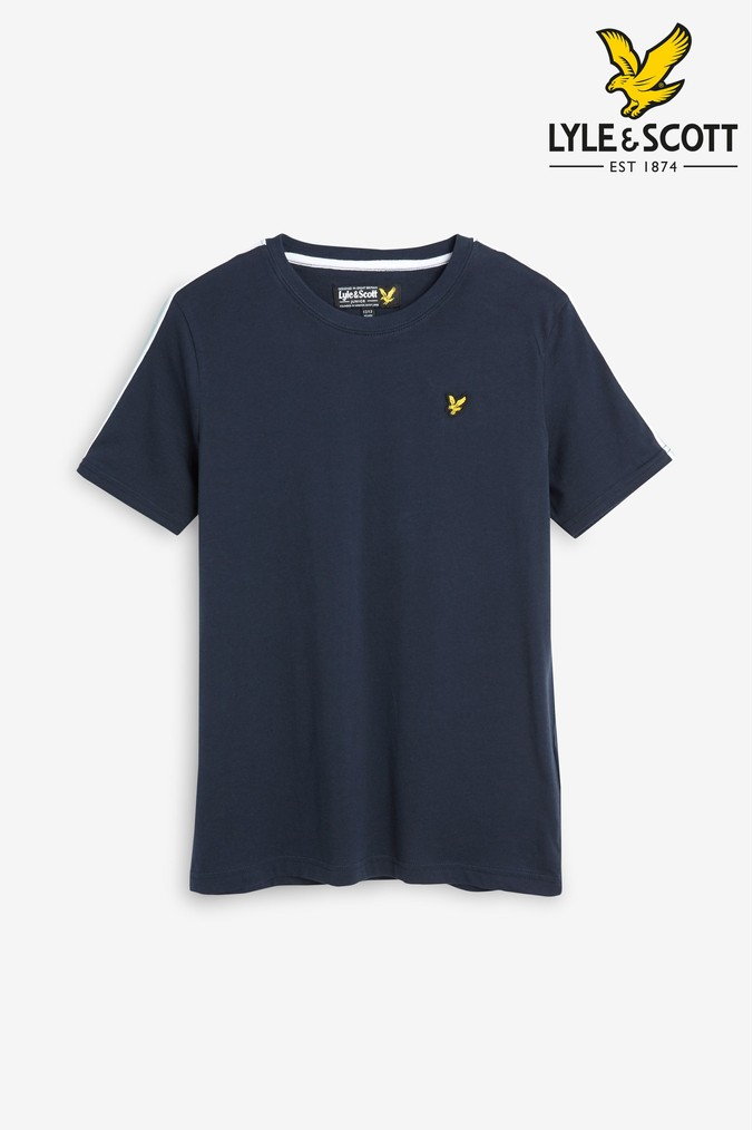 c6a761ad4 Boys Lyle & Scott Taped T-Shirt - Blue in 2019 | Products | Lyle ...