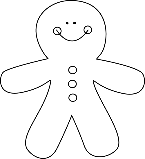 Black and white gingerbread man teachers clip art and black and white gingerbread man preschool pronofoot35fo Choice Image