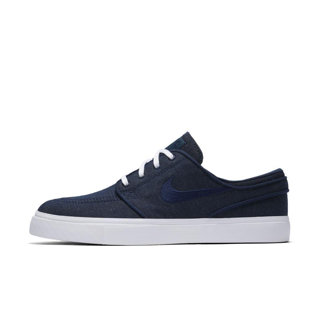 39d96a8254 Nike SB Zoom Stefan Janoski Canvas Men's Skateboarding Shoe Size 5.5 (Blue  Void)