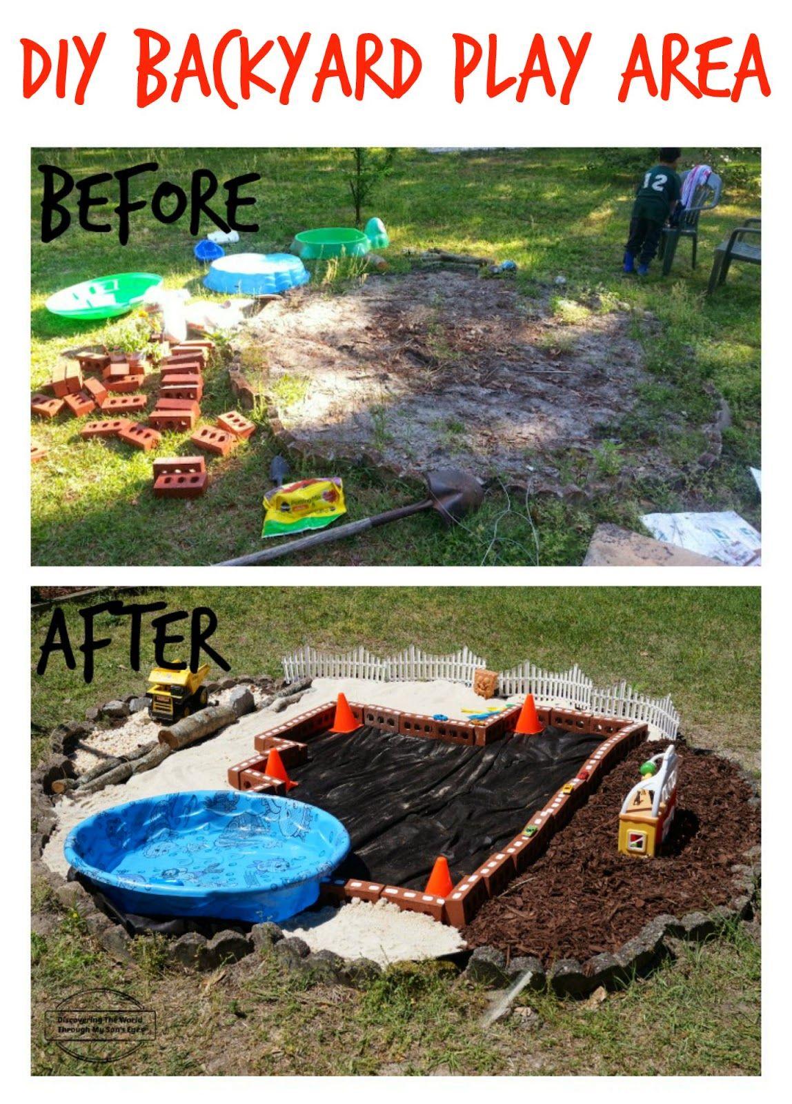 Backyard Barbecue Bloghop {DIY Backyard Play Area ...