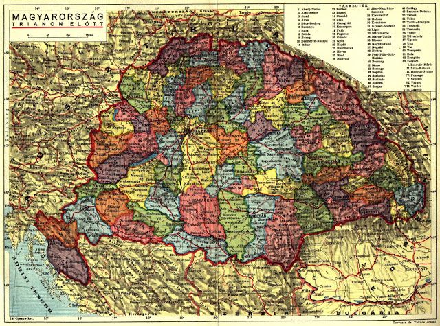 Régi Magyar Térkép