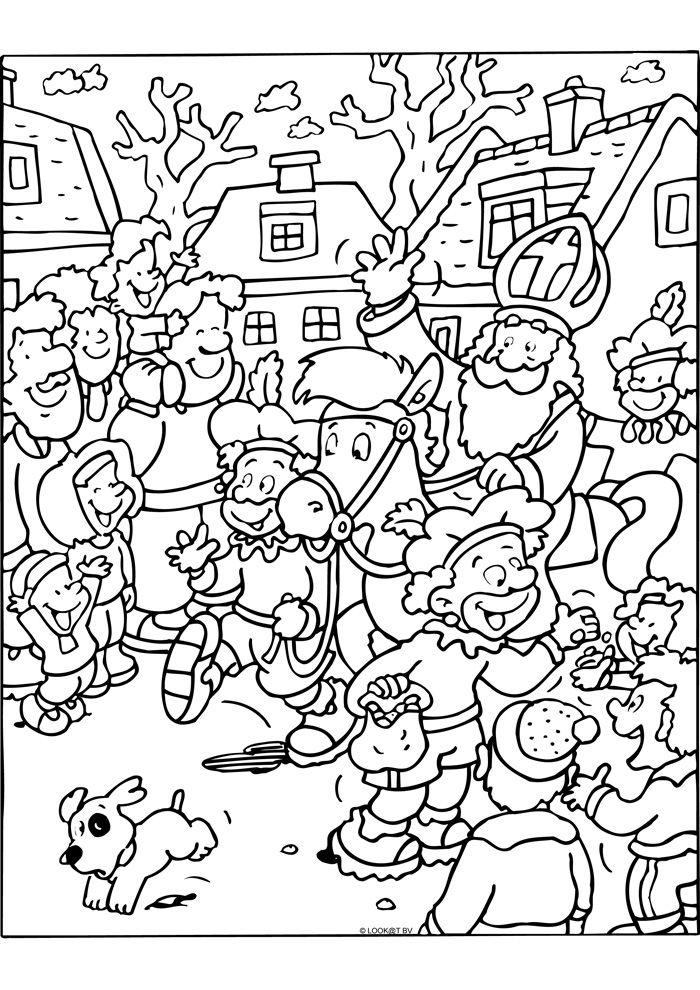 Zeehond Kleurplaten Volwassenen Aankomst Sinterklaas Sinterklaas Kleurplaten