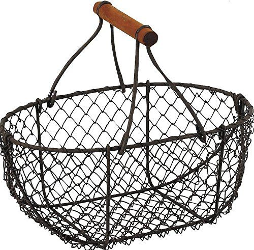 Homes on Trend Storage Basket Small Metal Wire Holder wit