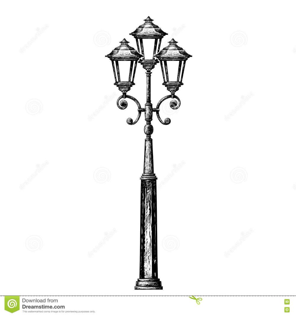 Street Light Street Post Stock Vector Illustration Of Design 78210678 Street Light Illustration Silhouette Vector