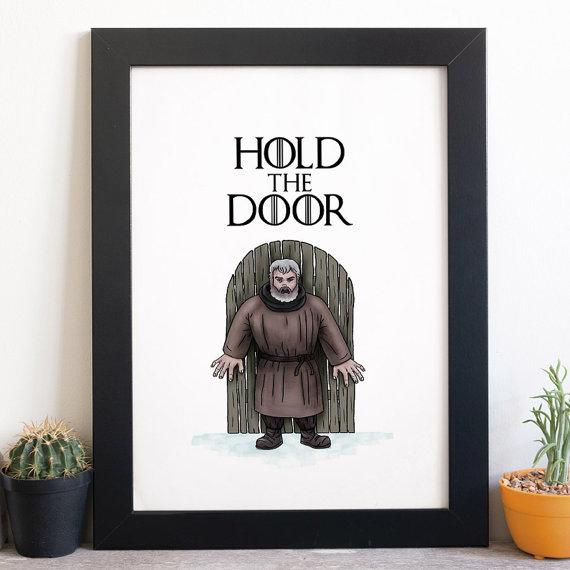 Hodor Poster Hold The Door Game Of Thrones Poster Film Poster Illustrations & Hodor Poster Hold The Door Game Of Thrones Poster Film Poster ...