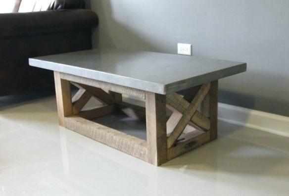 Concrete Coffee Table Ceramics Unique Cement Grey Home Decorations Reclaimed Park Exterior Furniture Top Square