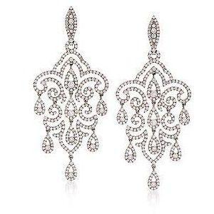 Chandelier Diamond Earrings In White Gold