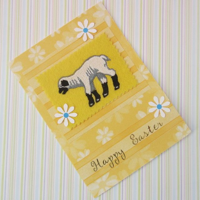 Easter Embroidered Lamb Card £2.50