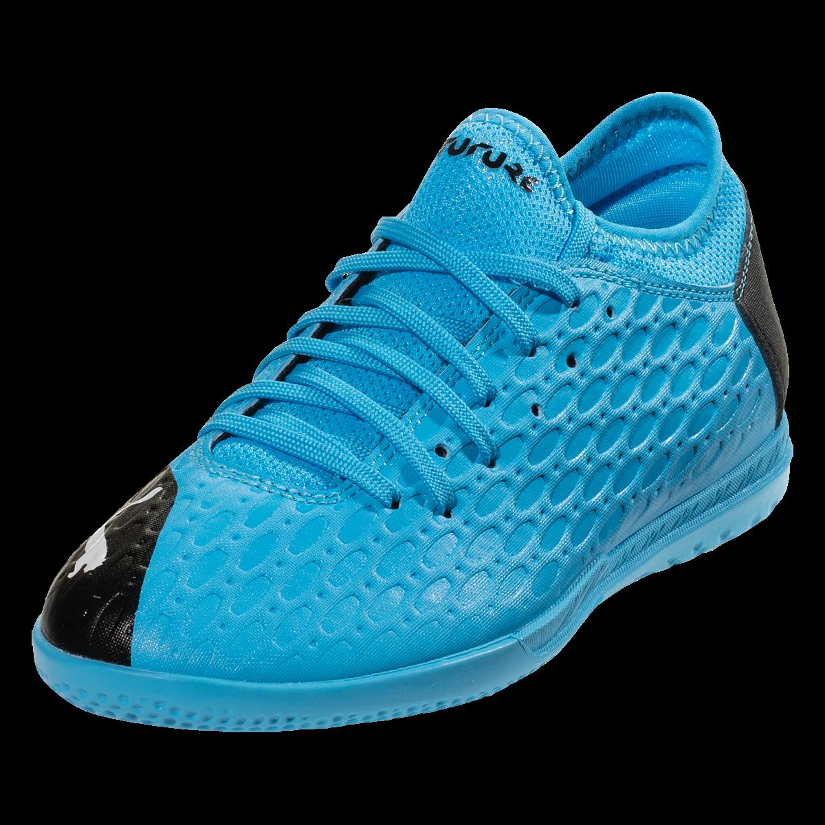 PUMA FUTURE 5.4 IT Jr Indoor Soccer Shoe BlueBlackPink 5.5