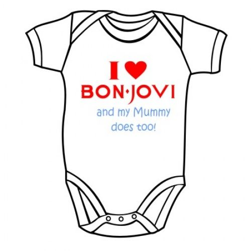 BODY SUIT printed with BON JOVI  band LOGO ROMPER BABY ONE PIECE