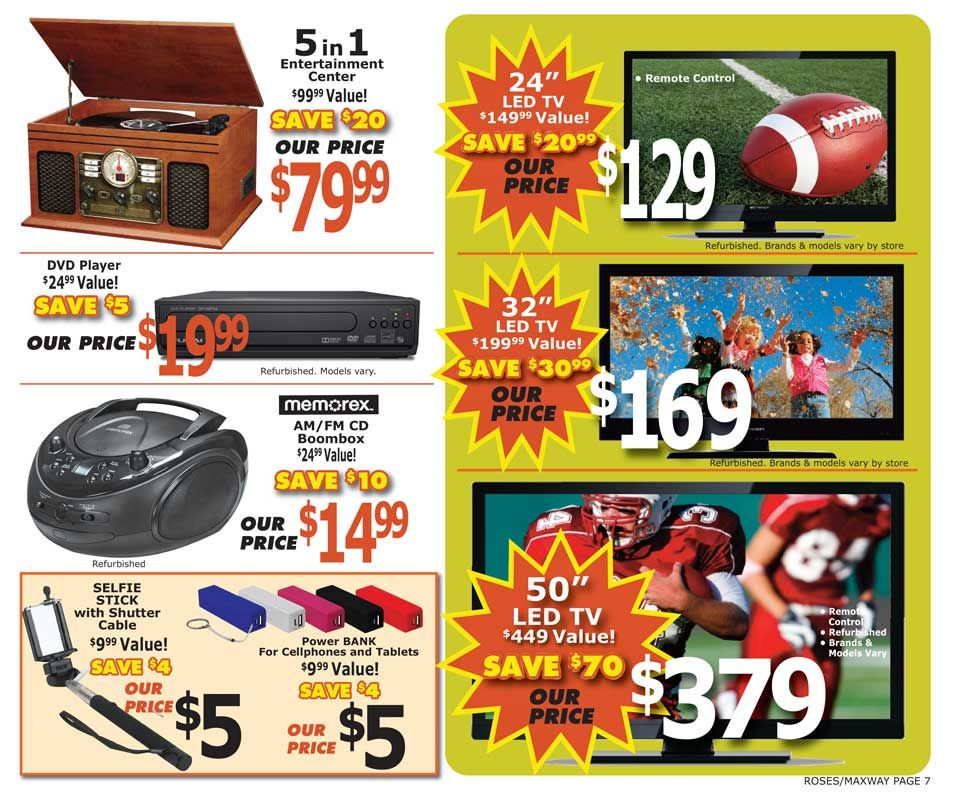 Roses Discount Stores Current Ad Roses Discount Store Led Tv Discounted