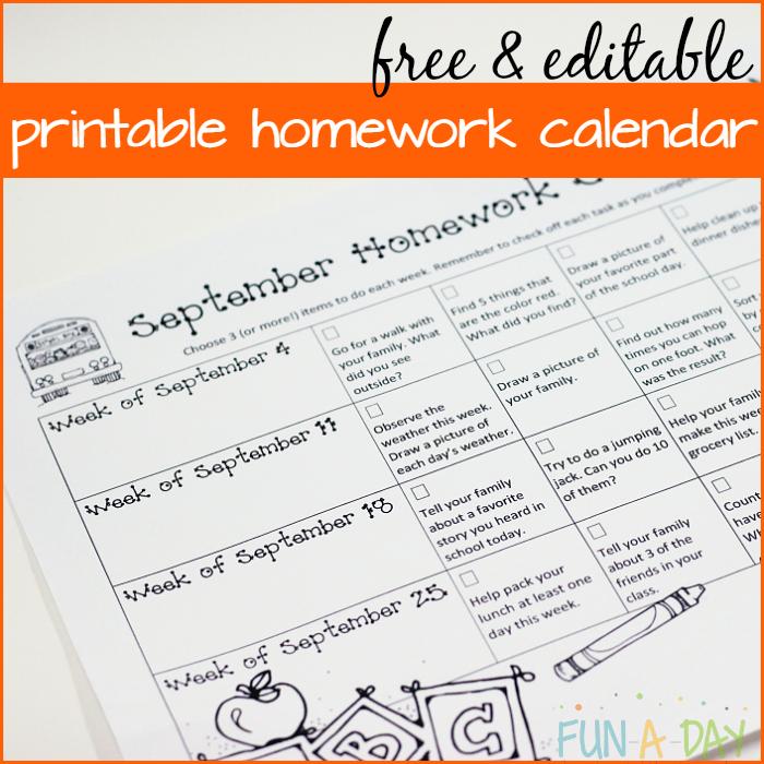 THE Best Way to Handle Kindergarten and Preschool Homework ...