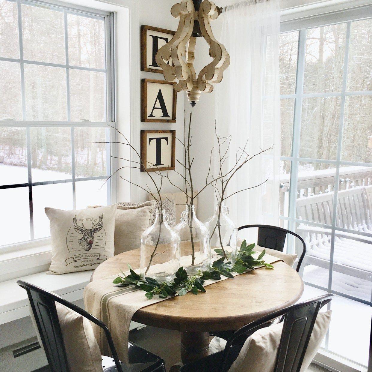 Farmhouse Winter Dining Table White Farmhouse Home Decor House Inspiration