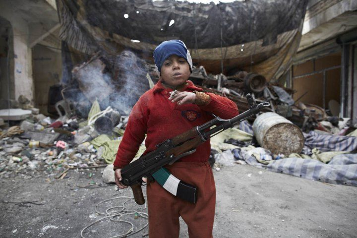 Childhood stolen. Syria: On the Frontline in Aleppo. Some kids live a much different life than others.